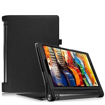 Fintie Folio Funda para Lenovo Yoga Tab 3 10 - Slim Fit Carcasa de Cuero Sintético con Función de Soporte y Auto- Reposo/Activación para Lenovo Yoga ...
