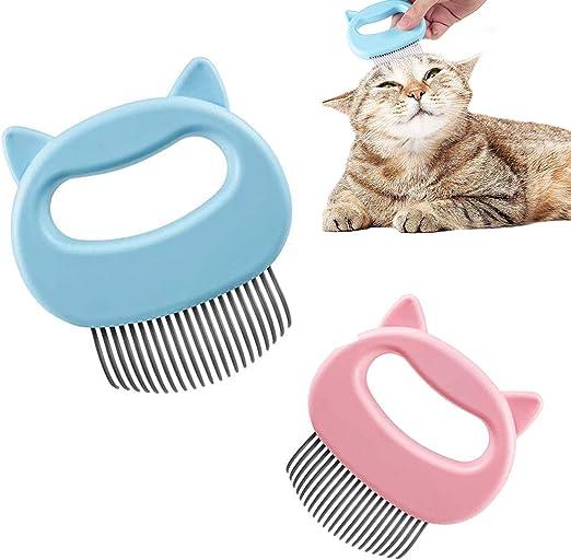 Cepillo suave para gatos, peine de masaje para gatos, peine para mascotas de pelo largo y pelo corto, removedor de pelo para gatos para pelo largo, cepillo para animales para mascotas pequeñas: