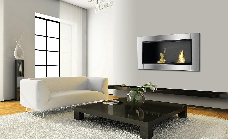 amazon com ignis lata recessed ventless ethanol fireplace home