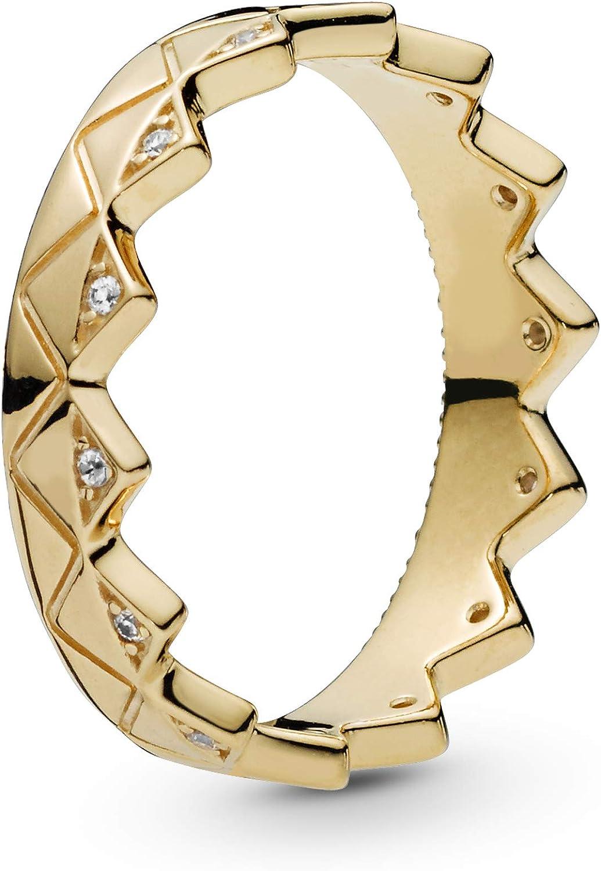 PANDORA Exotic Crown 18k Gold Plated PANDORA Shine Collection Ring...