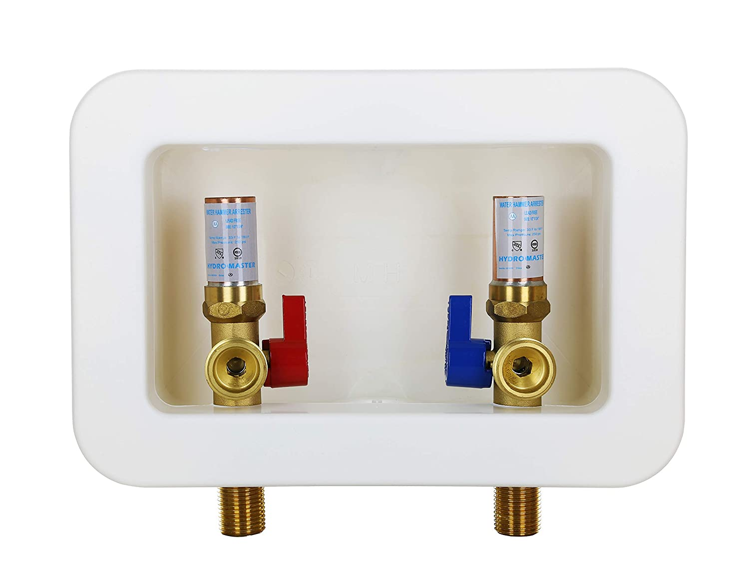 Hydro Master Washing Machine Outlet Box, Washing Stop Valves with Water Hammer Arrestor