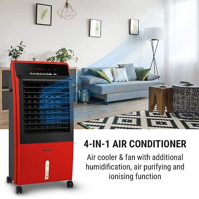 oneConcept CTR-1 V2 Climatizador 4 en 1 - Purificador, Ionizador ...