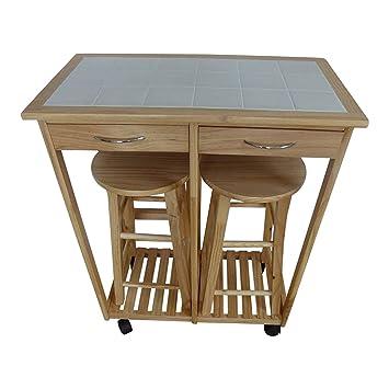 Uk Gardens 2 Seater Breakfast Bar Set Folding Kitchen Table Stools