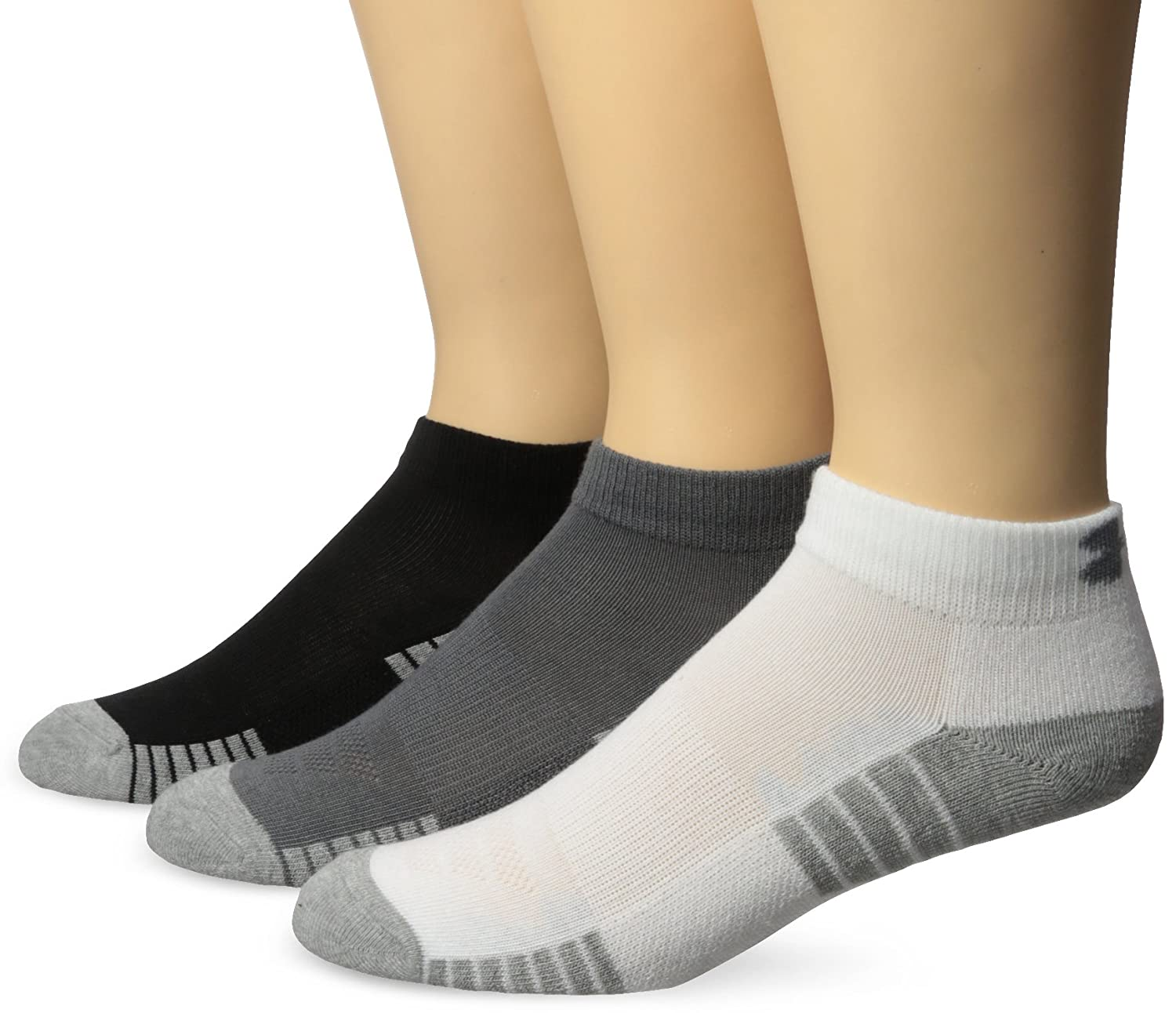 Under Armour Men's Heatgear Tech Lo Cut Socks (3 Pack)