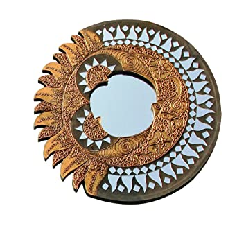 Feng Shui Spiegel berk feng shui spiegel sonne mond rund ca 40 cm amazon de küche