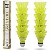 Philonext 12-Pack Badminton Shuttlecocks,Sport Plastic Shuttlecocks -Stable & Durable Sports Training Badminton Balls…