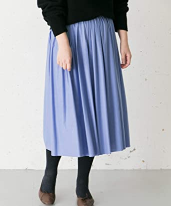 105e44419386b  アーバンリサーチ ロッソ  スカート SILVERLIGHTS スエードタックギャザースカート レディース BLUE FREE