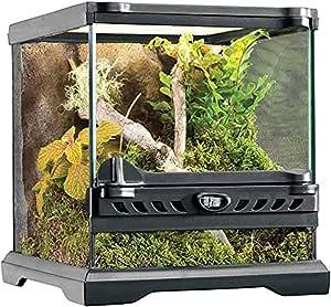 Exo Terra Glass Terrarium Kit, for Reptiles and Amphibians, Nano, 8 x 8 x 8 inches, PT2599A1