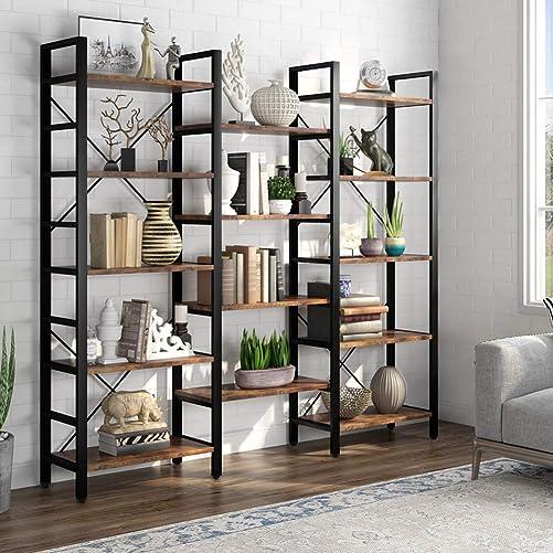 Cheap LITTLE TREE Industrial Large 5-Tier Bookshelves modern bookcase for sale