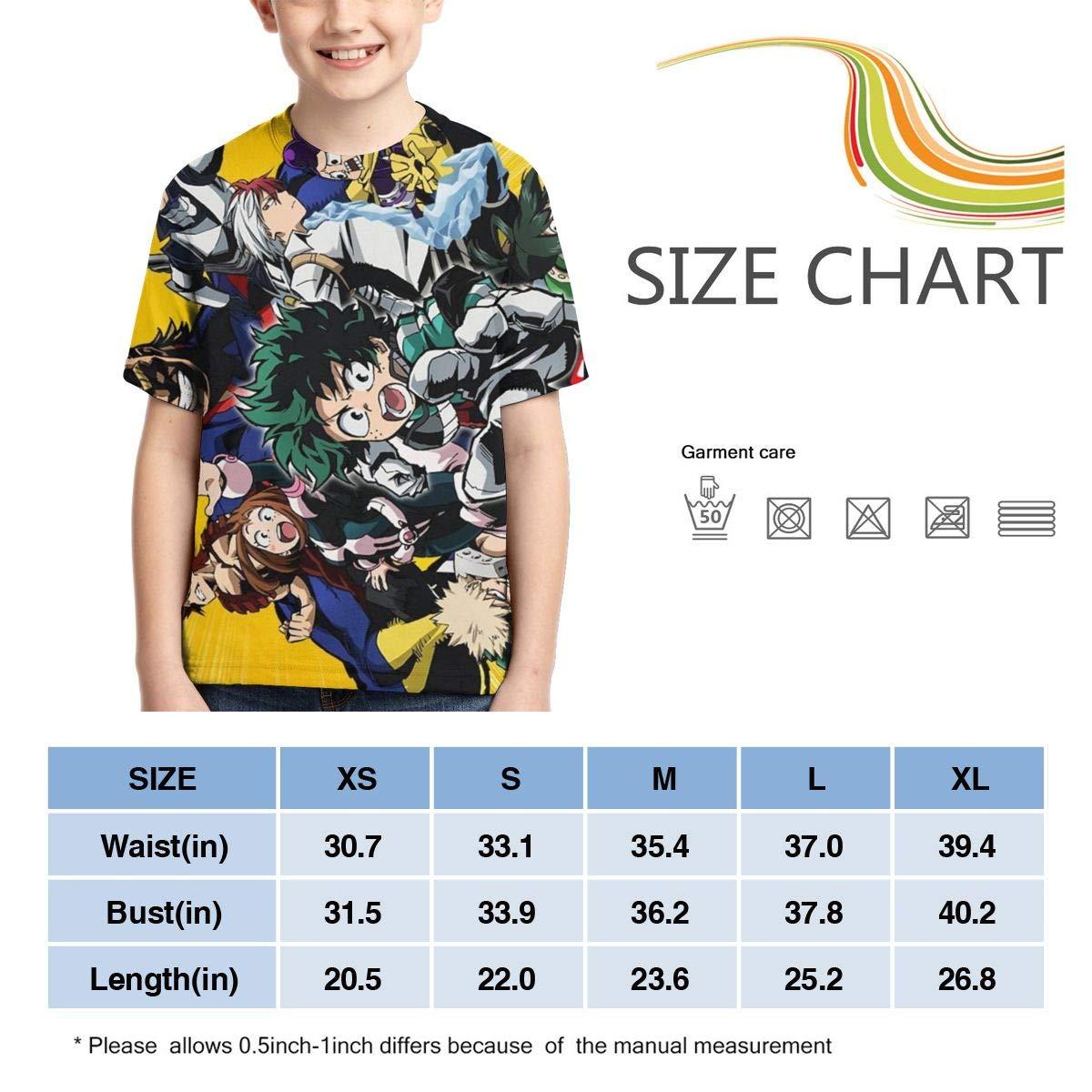 Hidreama My He-ro Academia 3D Print Casual Long Sleeve Shrit Kids Tee