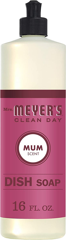 Mrs. Meyer's Clean Day Dish Soap, Mum, 16 fl oz)