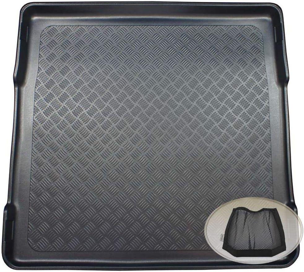 Zentimex Z3328064 Geriffelte Kofferraumwanne Fahrzeugspezifisch Klett Organizer Laderaumwanne Kofferraummatte Auto