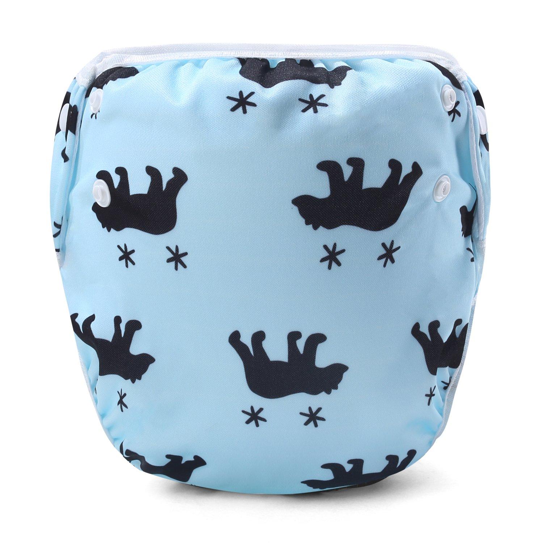 Storeofbaby Reusable Baby Swim Diapers Waterproof Swimming Pants Unisex 0-3 Years