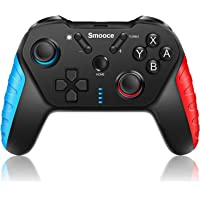 Smooce Nintendo Switch Controller,Wireless Switch Pro Controller met 6-assige Gyro verstelbare Turbo Dual Vibration…
