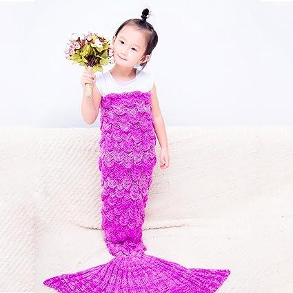 TimeCollect Niños escala de peces cola sirena manta de para niños adolescentes, 150x75cm del bebé