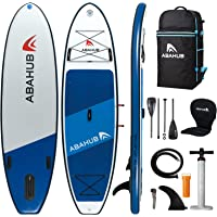 """Abahub Inflatable SUP, Wide 10'6"""" x 34"""" x 6"""" iSUP, Blue/Gray/Orange/Pink Standup Paddleboard with Adjustable Carbon…"""