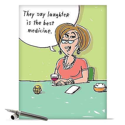 Huge   Get Well Soon Card Wine Forbest Medicinequot