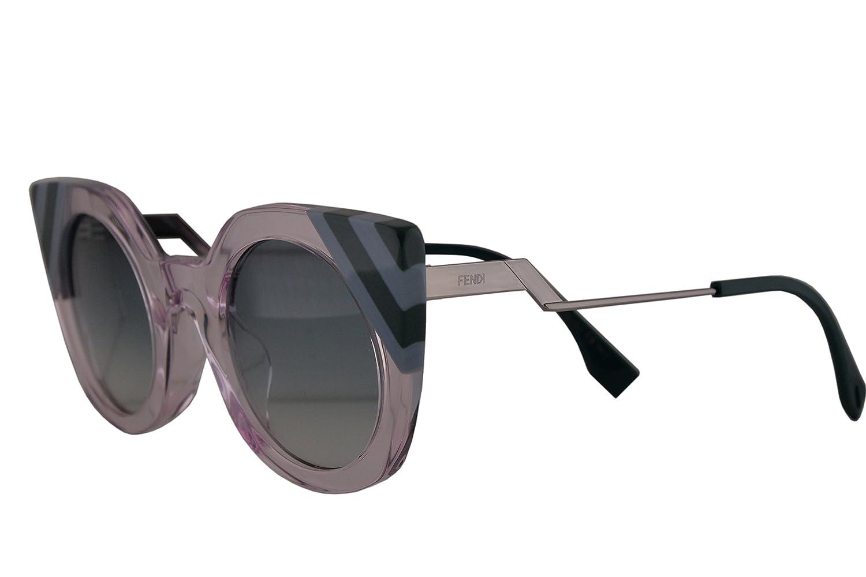 4bcb9b65bb Amazon.com  Fendi FF0240 S Sunglasses Pink w Green Gradient Lens 47mm 35J9K  FF0240S FF 0240S FF 0240 S  Clothing
