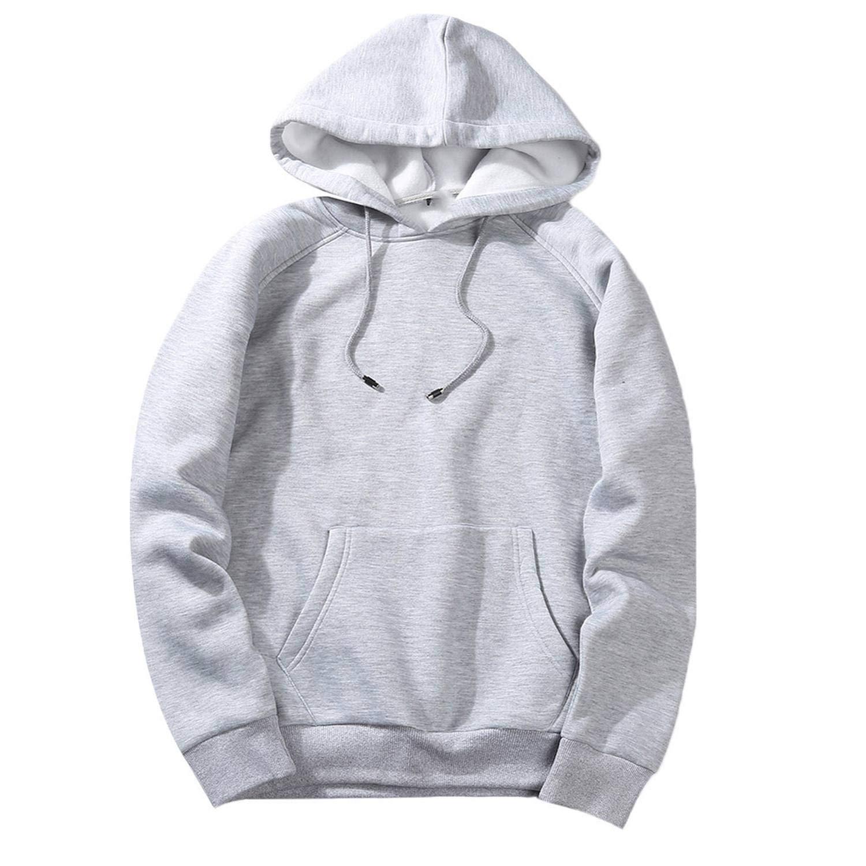 Sweatshirts Mens Solid Hip Pop Loose Fit Hoodie Sweatshirt Casual Men Pullover Tops Autumn Winter Men Hoodies Sweatshirts