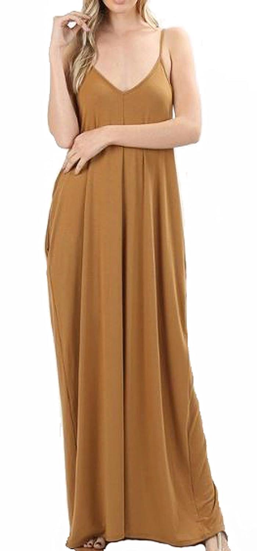 a04dc5ce242 Zenana Premium Maxi Dress with Pockets at Amazon Women s Clothing store