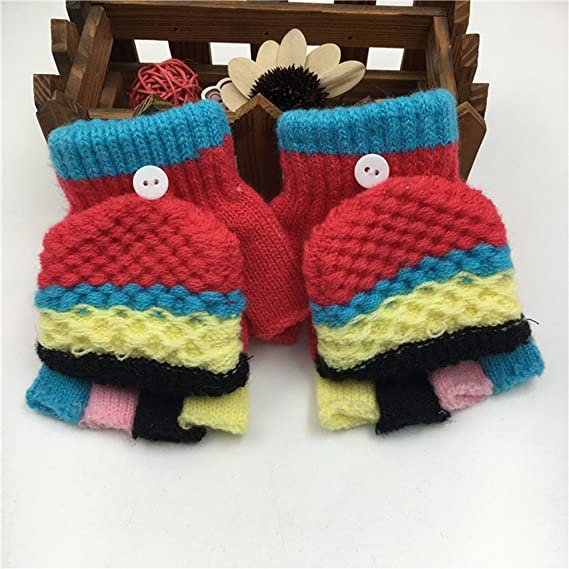 Winter Toddler Baby Kids Boy Girl Soft Knitting Mittens Warm Gloves Hand Warmer