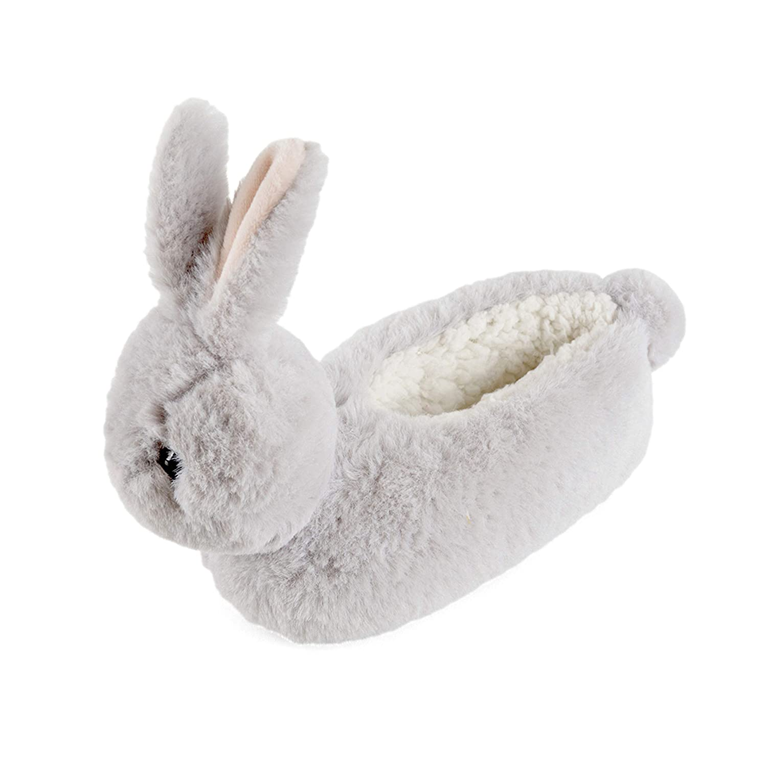 4f890d94d7 Childrens Girls 3D Bunny Rabbit Novelty Faux Fur Slippers - Grey - Toddler  Size UK 13 1  Amazon.co.uk  Shoes   Bags