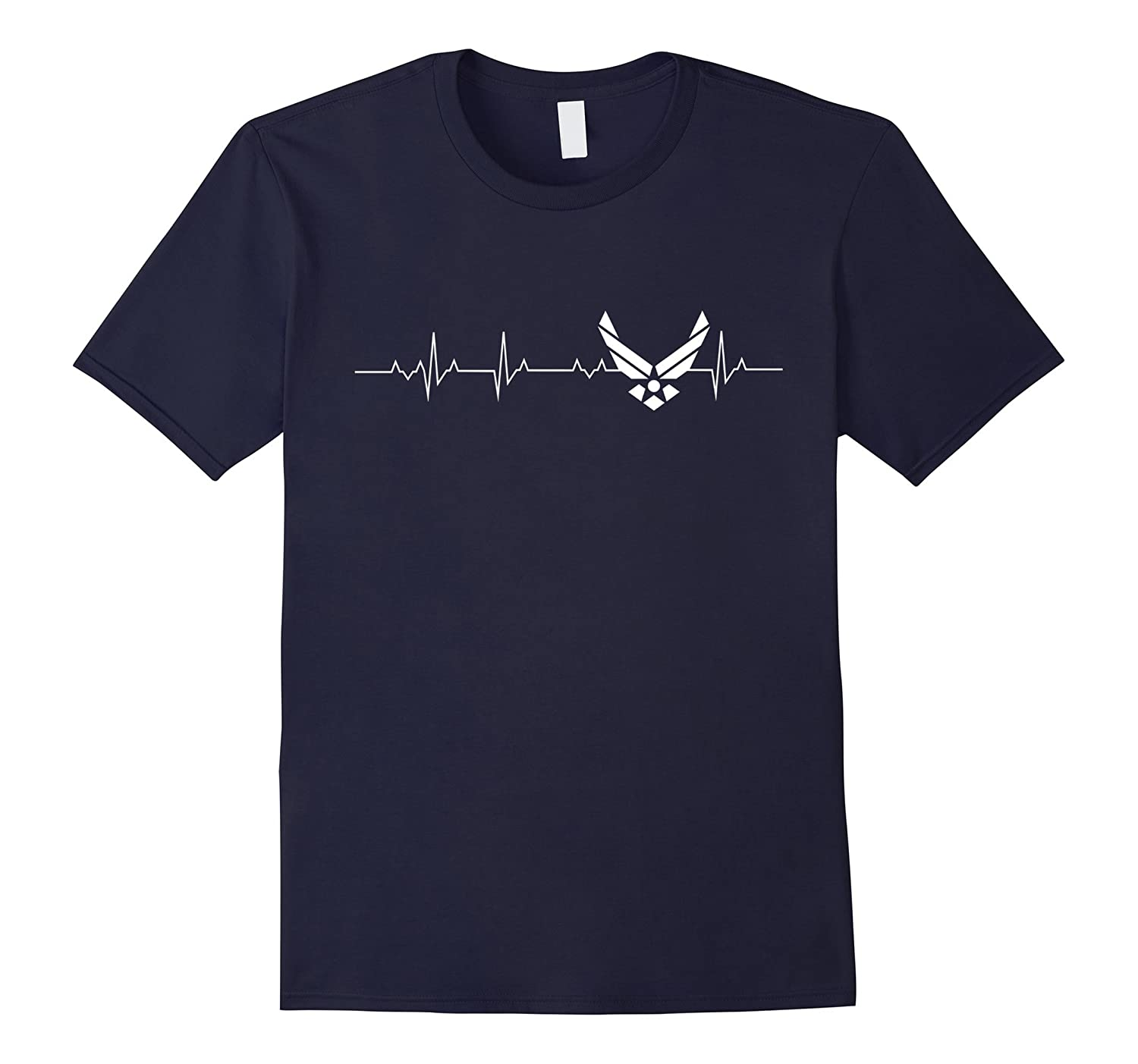 AirForce Tshirt i love AirForce heart beat-TH
