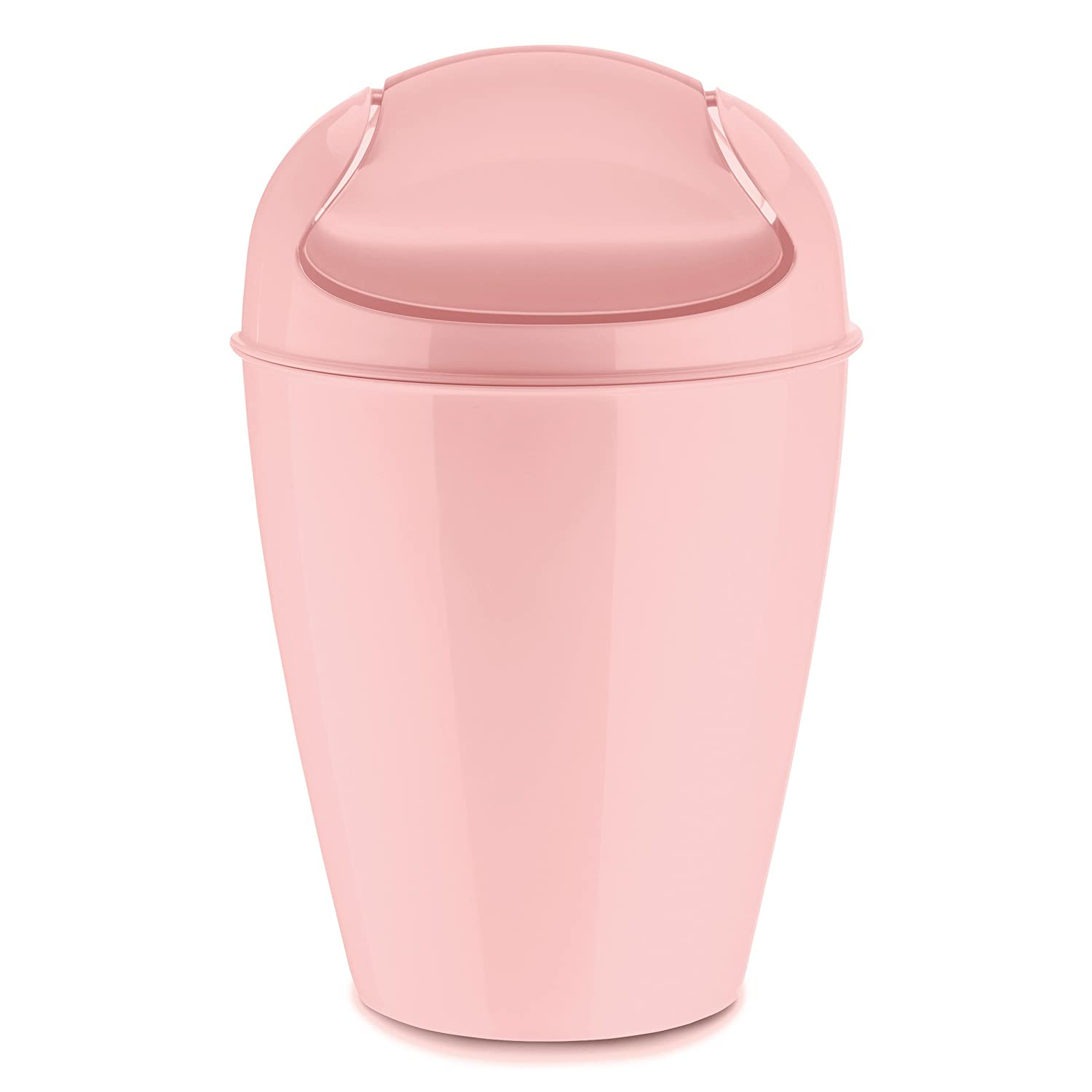 Koziol Swing-Top Wastebasket, thermoplastic, Powder Pink 5777638