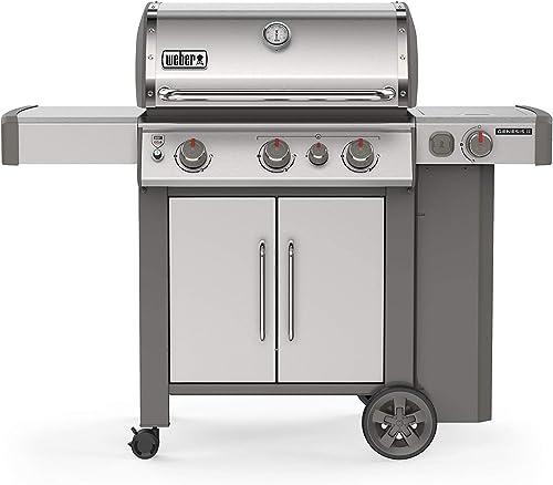 Weber 61006001 Genesis II S-335 3-Burner Liquid Propane Grill, Stainless Steel