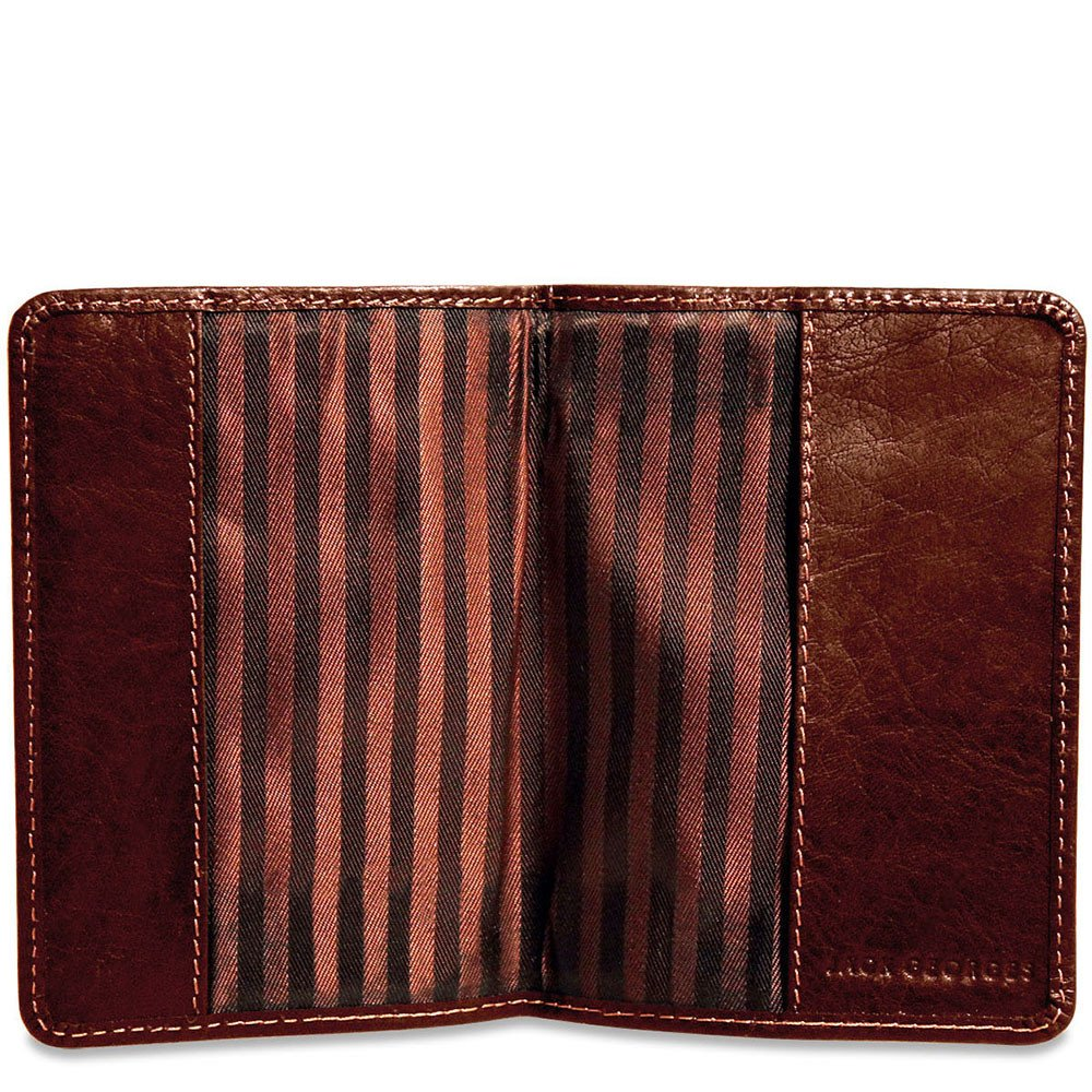 Jack Georges Voyager Leather Passport Cover in Brown by Jack Georges (Image #3)