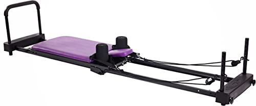 side facing aeropilates reformer plus 379 pilates reformer