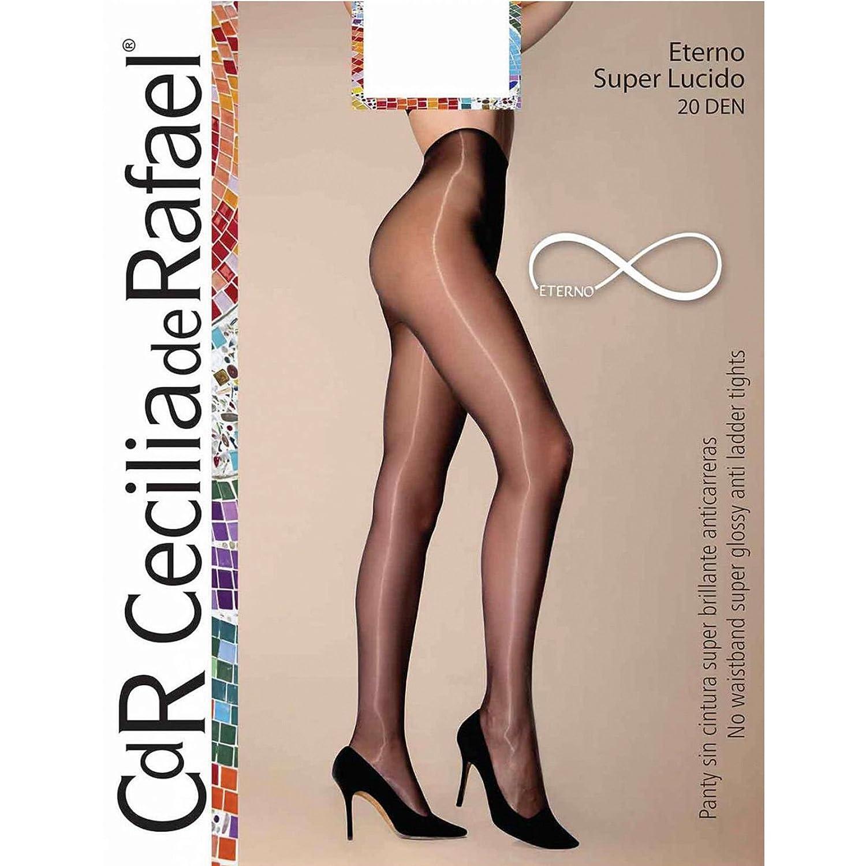 9e4598648a4 Cecilia de Rafael - Eterno Super Lucido 10 Ultra High Gloss Shiny Sheer  Pantyhose Tights for Women at Amazon Women s Clothing store