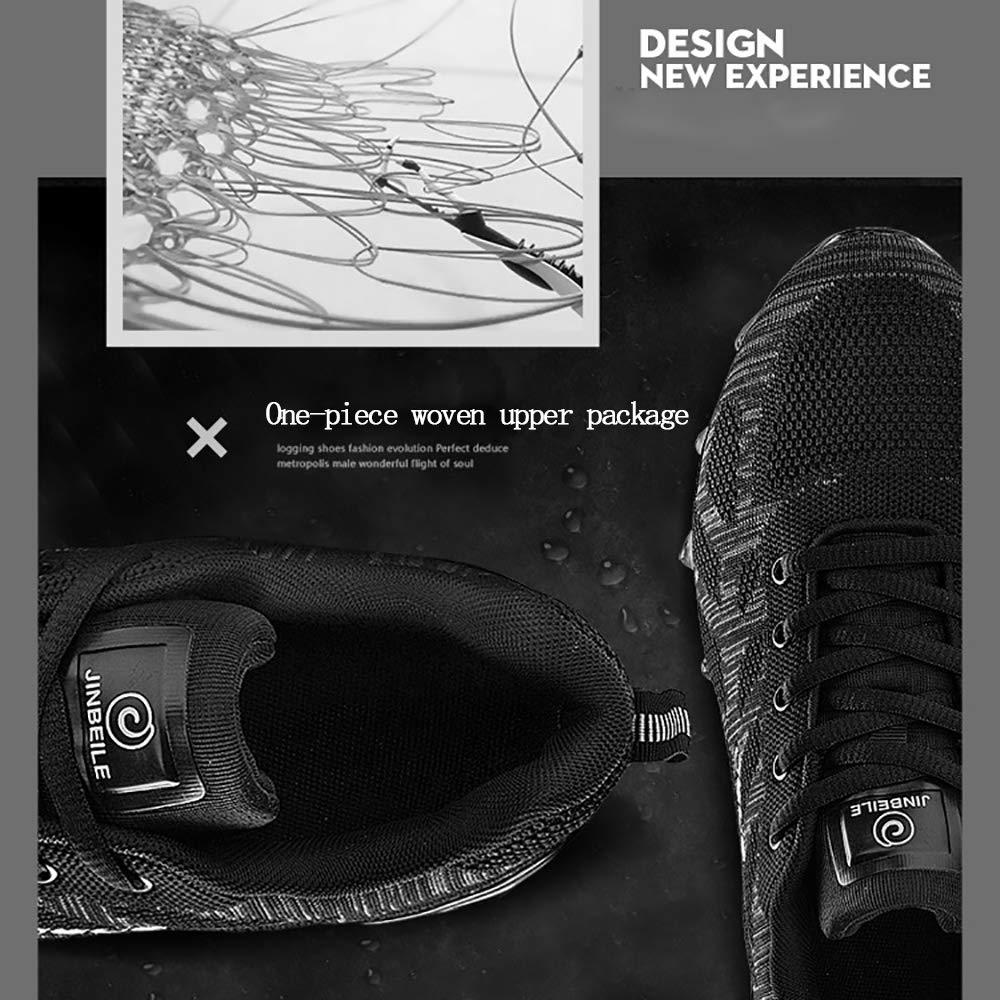ETYGYH Herrenschuhe, Herbst-und Winter-Leichtbaufelbahn Sportlauf Running Schuhe Fashion Non-Slip Fliegenden gewänder Mesh Schuhe,B,40