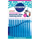 Ecozone Enzymatic Drain Sticks - Helps to Prevent Blockages Forming (Pack of 2)