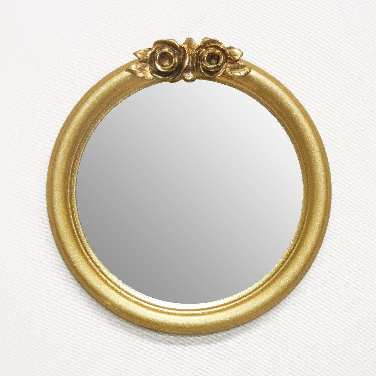 【イタリア製壁掛けミラー】 アンティーク調 ゴールド 24X25cm 21-6019G B07BBB99K5 24X25cm|ゴールド ゴールド 24X25cm