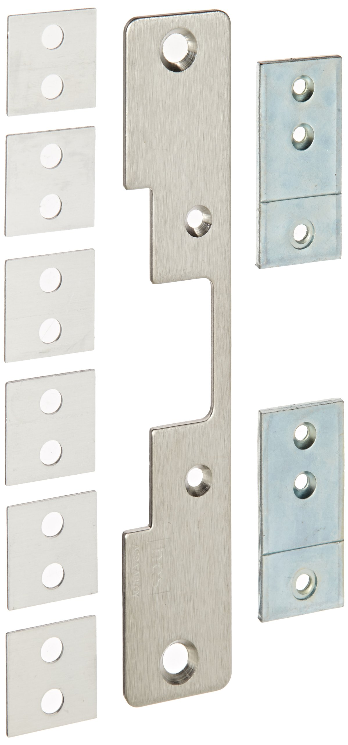 HES Stainless Steel 503 Faceplate for 5000 Series Electric Strikes for Cylindrical Locksets Includes Universal Mounting Tabs, Satin Stainless Steel Finish