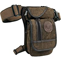 Canvas Tactical Military Waist Pack Leg Pouch Outdoor Multi-Pocket Thigh Bag Cotume