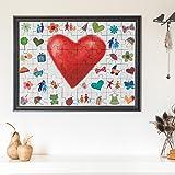 hochzeitsgeschenke und spiel das holzmosaik holz puzzle buche 55x40 cm bemalen alternative. Black Bedroom Furniture Sets. Home Design Ideas