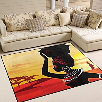 Ingbags Super Weich Modern Afrika Frauen, Ein Wohnzimmer Teppiche Teppich  Schlafzimmer Teppich Für Kinder Play