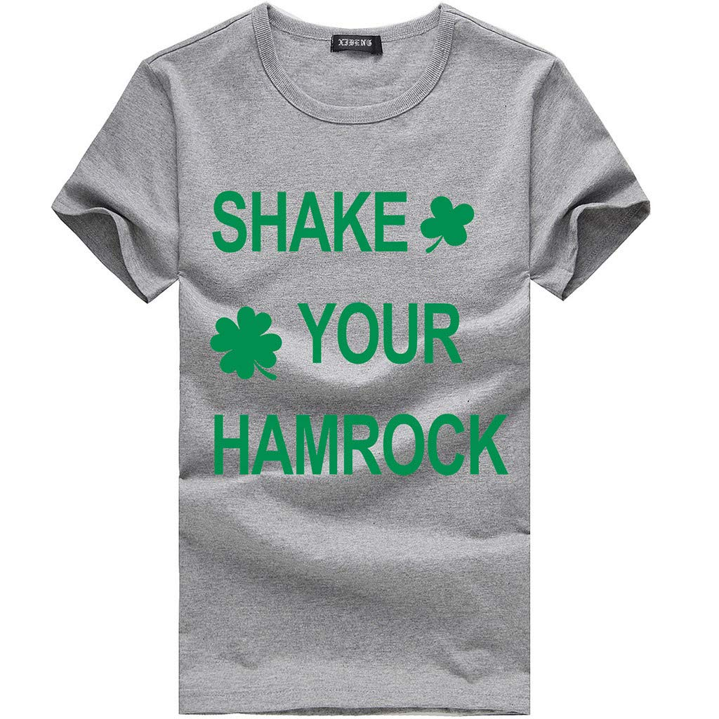 Women Tees St. Patrick's Day Printed O-Neck Cotton Short Sleeve T-Shirt Tops