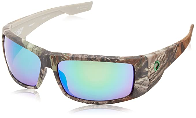 0d786ba82a06 Amazon.com  Spy Optic Konvoy Polarized Wrap Sunglasses (Spy + Real  Tree Happy Bronze Polar w Green Spectra)  Spy  Clothing