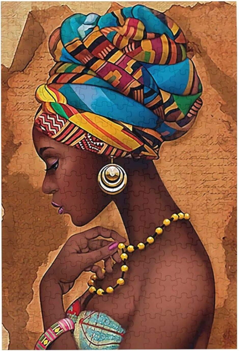 Black Woman African American Girls Jigsaw Puzzles for Adults Children Family Game Gift Home Wall Decor 300pcs Puzzle