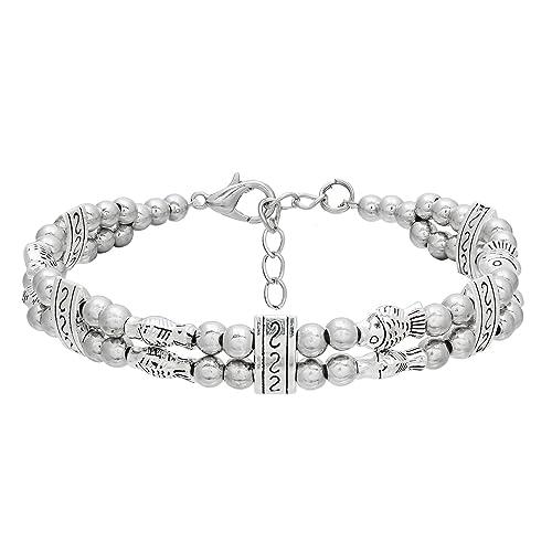 Buy The Luxor Oxidised Silver Beautiful Designer Bracelet For Girls