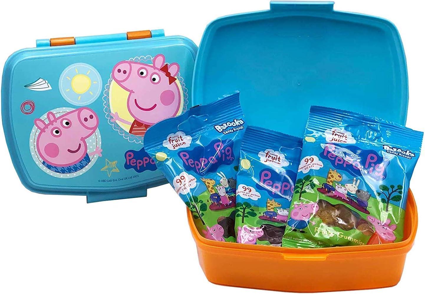 Brotdose Peppa Wutz Lunchbox mit 3 F/ächern Kindergarten oder Freizeit ideal f/ür Schule Bento Brotbox f/ür Kinder