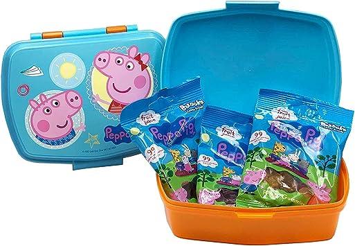 JuniorToys Peppa Pig Set de Regalo con Fiambrera Caja Almuerzo ...