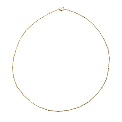 2aa2c668d8118 HONEYCAT Satellite Bead Ball Chain Choker-Necklace in Gold, Rose Gold, or  Silver | Minimalist, Delicate Jewelry