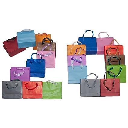 Dazoriginal Pequeña Bolsas para Regalo 10 Unidades 10 Colores Fiesta Bolsas de Regalos Bolsas de papel pare fiestas Bolsa de papel kraft bolsas de ...