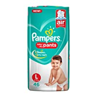Pampers New Diapers Pants, Large, White (46 Count)