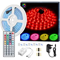 LED Strip Light MINGER RGB SMD 5050 LED Rope Lighting Color Changing Full Kit with 44-Keys IR Remote Controller LED Lighting Strips for Kitchen Christmas Decoration