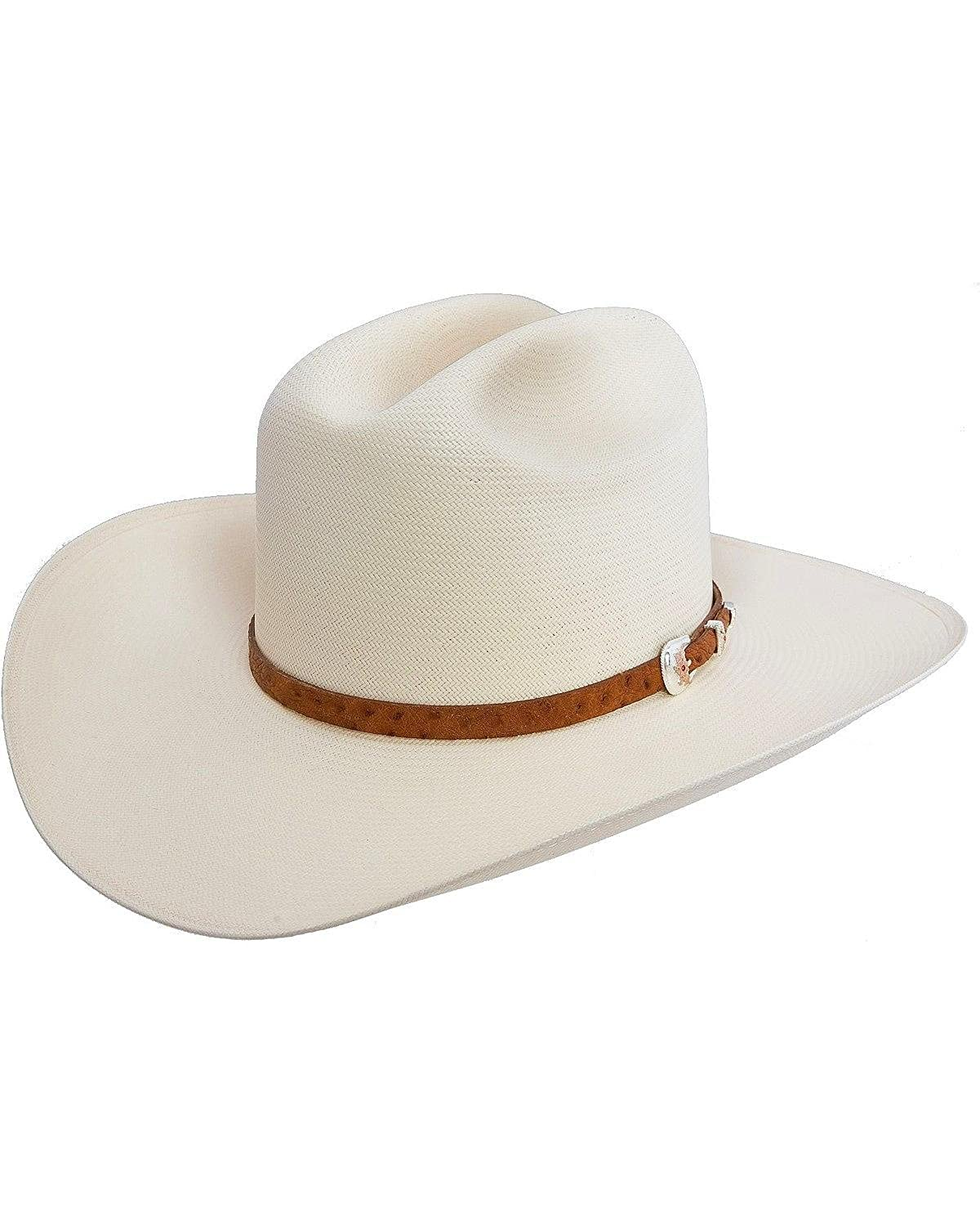 b9c0e999e4f Stetson Men s El Noble 500X Straw Cowboy Hat - Sselnbm2840 at Amazon Men s  Clothing store